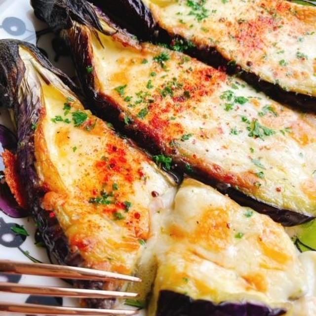 茄子のチーズ焼き(動画レシピ)/Baked Eggplants with cheese.