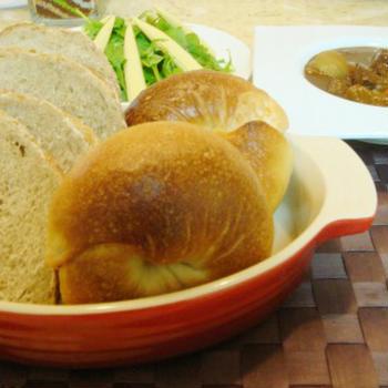 手作りパンとハッシュドビーフ