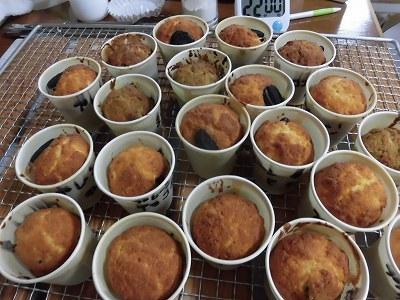 ミニ紙コップのカップケーキ種類も多く~♪