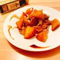 【ダイエットメニュー】代謝促進&デトックス☆豚肉とりんごのバルサミコ酢炒め煮