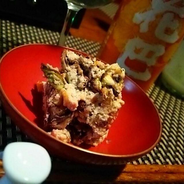 ふきのとうと干し柿の白和え×花巴、豆苗からし和え×雪恋花、鰆の粕漬×玉川、北寄貝出汁の湯葉飯で〆