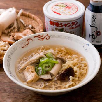 創味シャンタンDX&創味のつゆで作ったきのこ鍋の〆は茸拉麺!