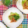 昨晩のゲストさん達の「女子会おもてなし料理」です~さっぱりライムを利かせサーモンマリネ♪♪ by pentaさん