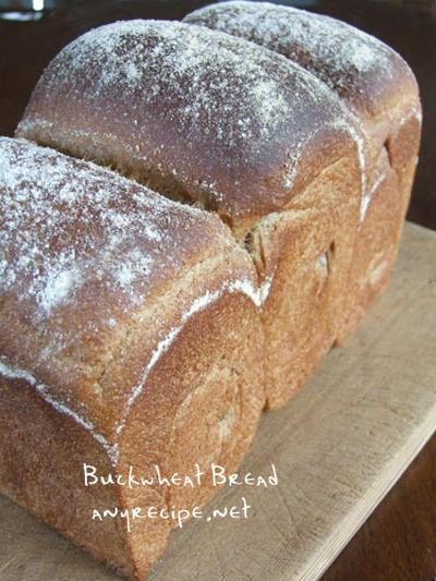 そば粉と全粒粉の食パン