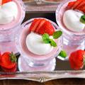《レシピ動画》♡いちごミルクプリン♡【#簡単レシピ#ゼラチン#混ぜて冷やすだけ#YouTube】