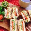アボカドサーモンの高野豆腐サンド(動画有)