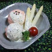 ミセスポテトのサーモンボール☆クリスマスすぺしゃるホワイトソース