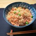 包丁いらず!鮭とコーンのバター醤油炊き込みご飯のレシピ