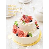 【バースデーケーキ】・2段のクリスマスケーキの製作と撮影のお仕事の依頼をいただき、2段...