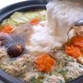 【寒い日にオススメ】消化促進に!鶏つみれのとろろ鍋♡レシピ