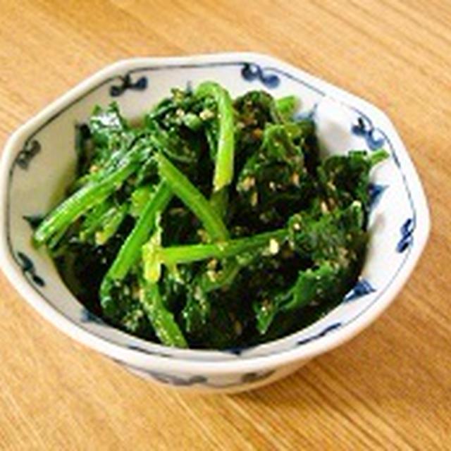 【レシピ】和食の定番!ほうれんそうのごま和え
