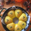 staubブレイザーで ピーナッツクリーム入り かぼちゃのちぎりパン♪ by カシュカシュさん