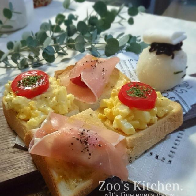 チラッと朝食。バター醤油香る和風きのこパスタで晩ご飯。