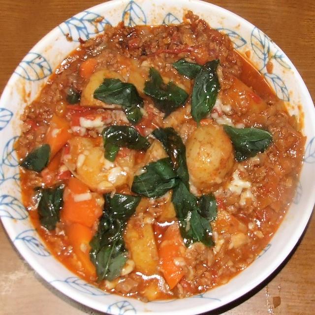 イタリアン肉じゃが&ズッキーニの天ぷら