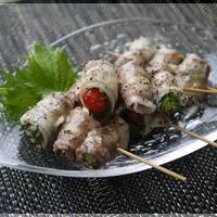 夏野菜のイベリコ豚串 レモンガーリックペパー