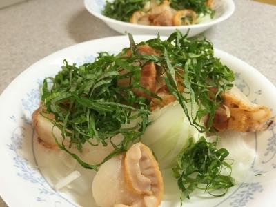 庭の大葉をのせて豆腐サラダ&ランチの炒飯&百合♪