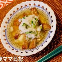 「じゃこ天と揚げ餅のみぞれがけ」♪ Mizore Jakoten Rice Cake