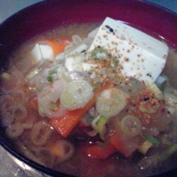圧力鍋で簡単、減塩豚汁。