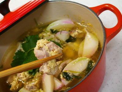 ル・クルーゼの鍋で作りました♪若鶏の茶碗蒸煮レシピ♪簡単!