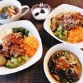 超簡単野菜たっぷりビビンバ丼にスープも添えて^0^ by みなづきさん