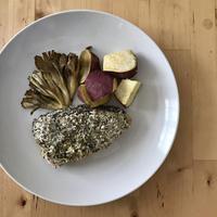 【レシピブログ】魚介のパン粉焼き × 山梨の甲州
