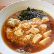 大手門風、豆腐ラーメン。埼玉県岩槻市の有名B級グルメを市販のラーメンで手軽に再現レシピ。