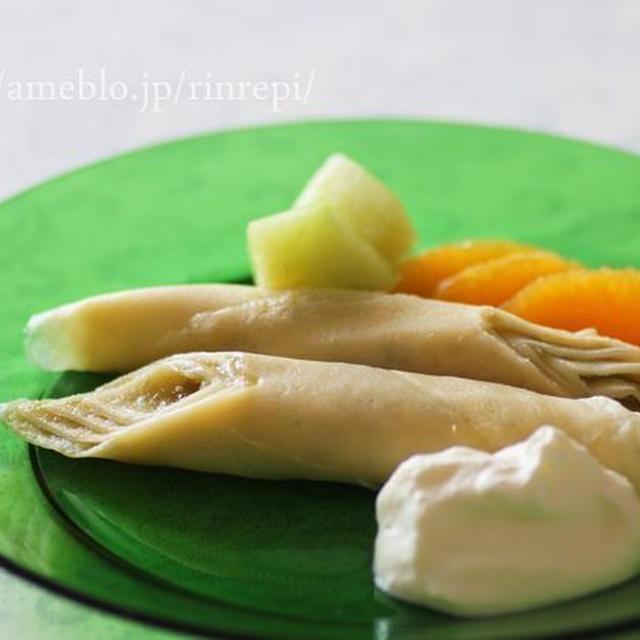 梅酒ジャムの米粉クレープデザート