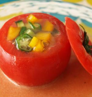 トマトファルシ(ゼリー寄せ)