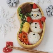 クリスマス気分の雪だるま弁当*キャラ弁