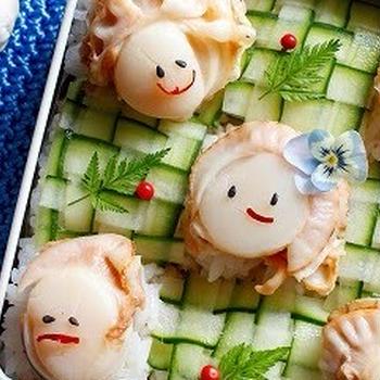 ほたてちゃんの五人五色寿司