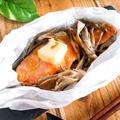 【10分晩御飯】鮭ときのこのレンジ酒蒸し by sayaさん
