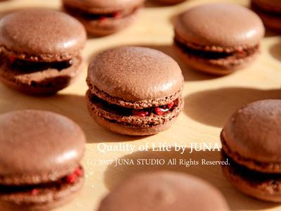 ><突き詰めるの大好きな方にw>ココアマカロンの作り方♪そして小さなお菓子ボックスにしたよ by JUNA(神田智美)さん