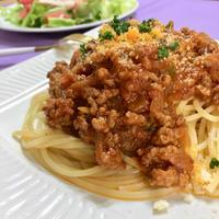 【デルモンテトマトソースのモニターでボロネーゼスパゲティ。レシピ付き】