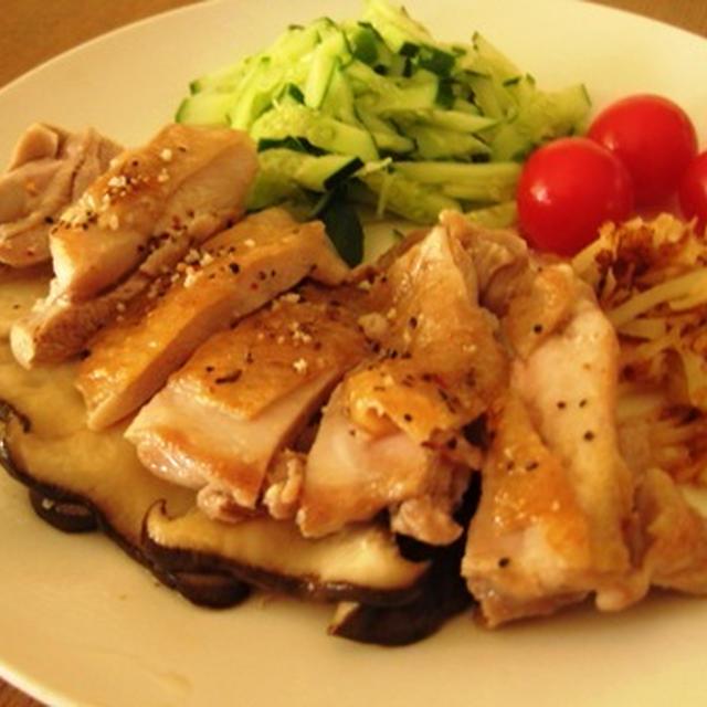 鶏モモ肉とエリンギのソテー