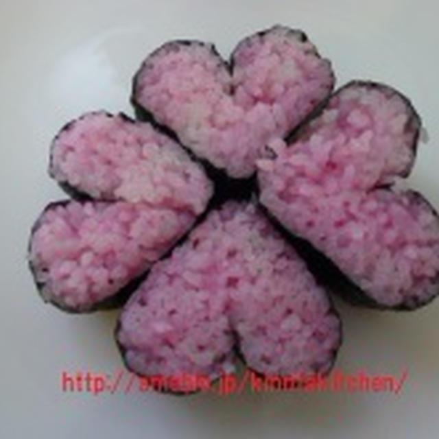 飾り巻き寿司 ハートの飾り巻き寿司♡♡