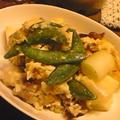 バンゴ:豚肉と長ネギと卵の炒めたん