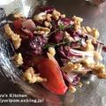 スパイス薬膳:レッドキャベツとトマトの薬膳サラダ ~ タイムの香り。
