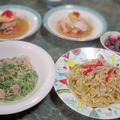 本日はヌーベル中華の献立(Nouvelle  cuisine chinoise)3品+1