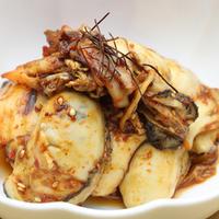 牡蛎とキムチのさっと炒め