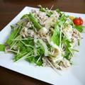 【簡単レシピ】豚肉の大根と水菜の梅肉ポン酢和え♪