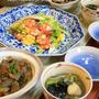 ◆海老とセロリの卵炒めに染み染みのモツ煮♪~緩やか糖質制限中