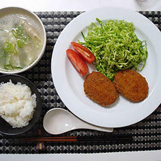 コロッケと餃子スープの手抜き10分ディナー(10 Minute Dinner with Croquettes and Dumpling Soup)