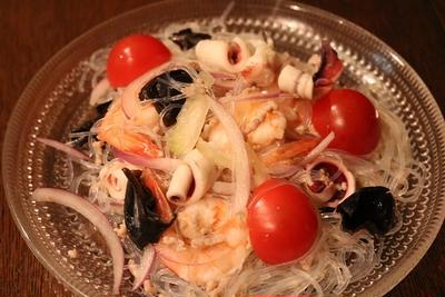 レシピ タイの春雨サラダ(ヤムウンセン)