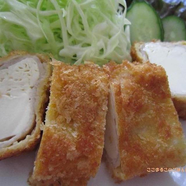 豆腐のロール豚カツ