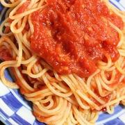 10月7日  辛くなかった トマトの パスタ