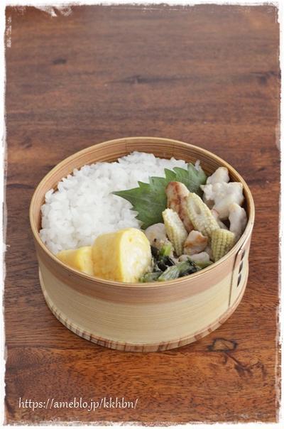 【ささみとヤングコーンの塩炒め弁当、とコスパの良いタイ料理】