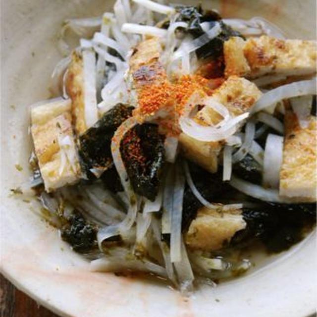 大根とカリッと揚げの酒海苔煮