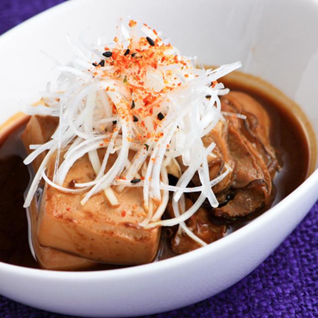 豆腐とかきのどて煮風
