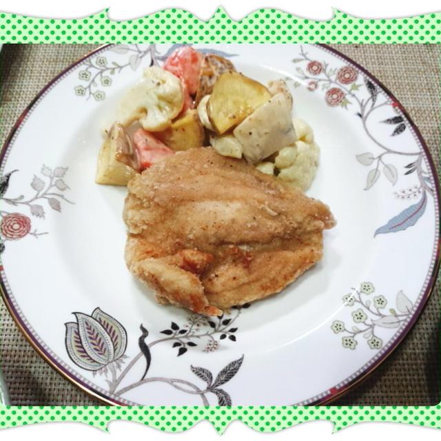 鶏むね肉の塩胡椒唐揚げ