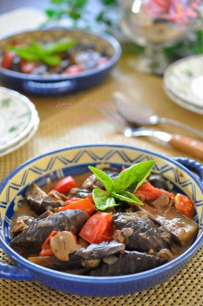 香味野菜とあさりの旨味たっぷりで作る♪簡単☆茄子のカポナータ☆